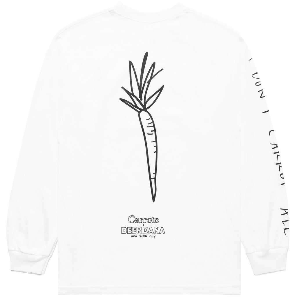 CARROTS X DEER DANA I DON'T CARROT LONG SLEEVE - WHITE