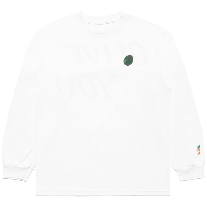 CARROTS X DEER DANA OLIVE YOU LONG SLEEVE - WHITE