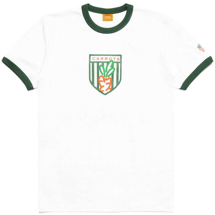 CARROTS SHIELD RINGER TEE - WHITE