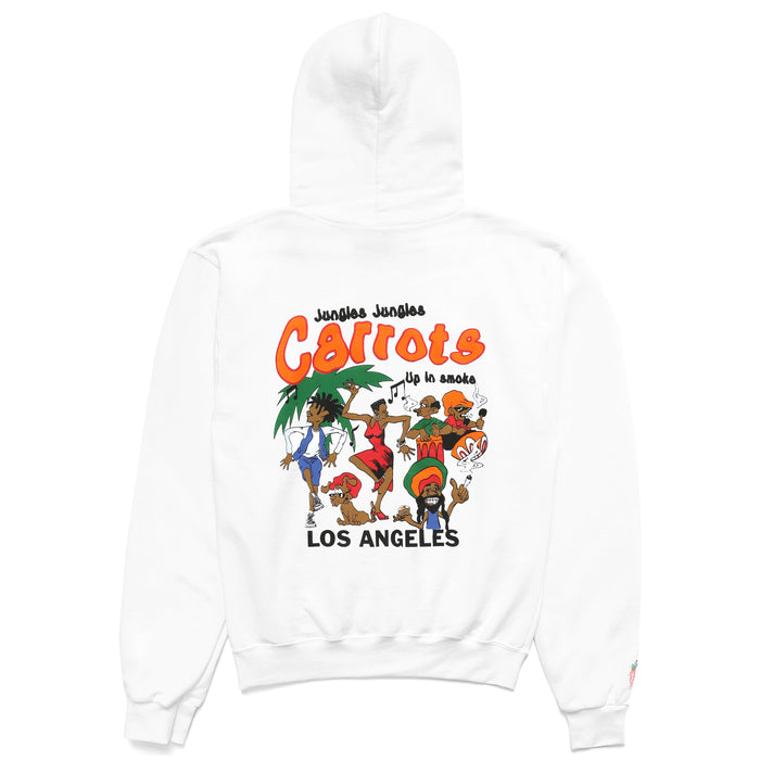 UP IN SMOKE HOODIE - WHITE