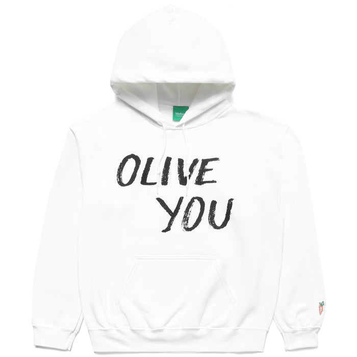 CARROTS X DEER DANA OLIVE YOU HOODIE - WHITE