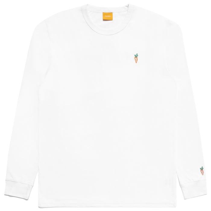 SIGNATURE CARROTS LONG SLEEVE TEE - WHITE