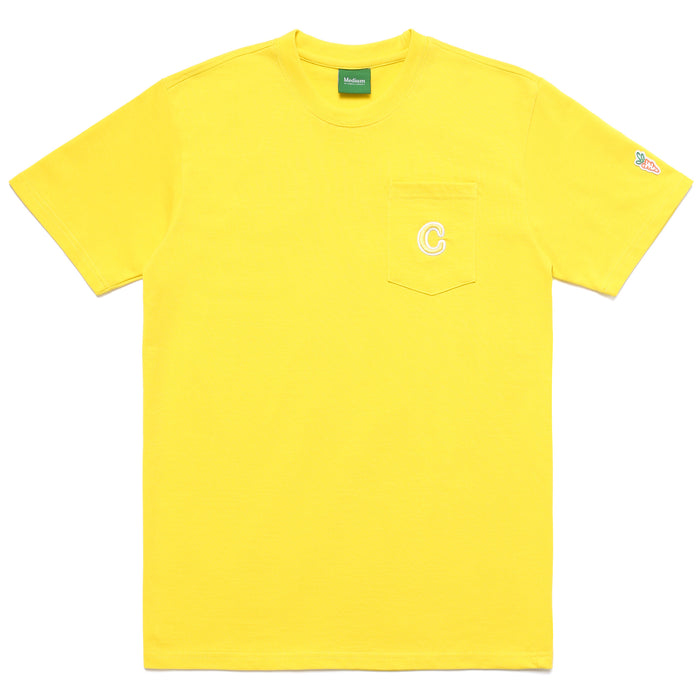 C PATCH POCKET TEE - YELLOW