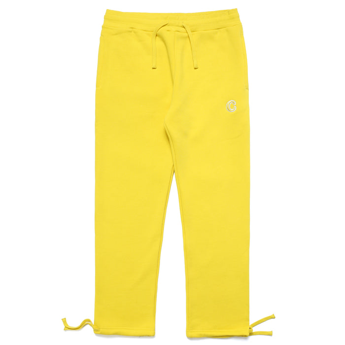 C PATCH SWEATPANTS - YELLOW
