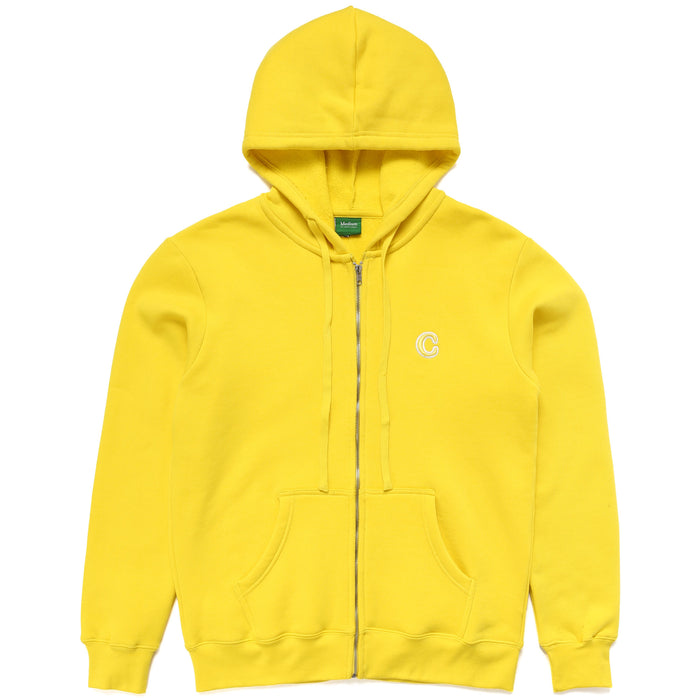 C PATCH ZIP UP HOODIE -  YELLOW