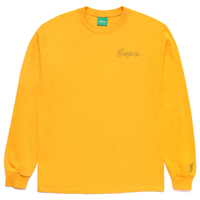 ENJOY LONG SLEEVE - GOLD