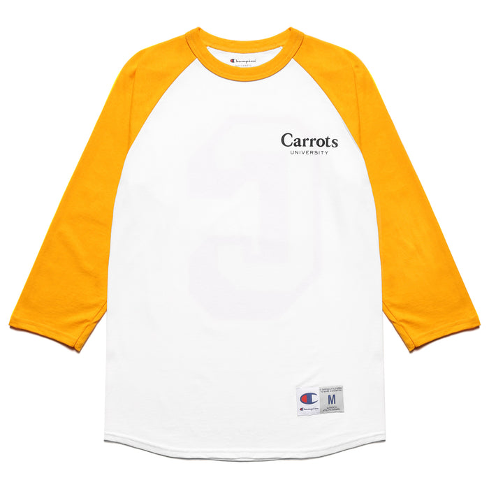 "CARROTS UNIVERSITY BIG ""C"" RAGLAN - GOLD"