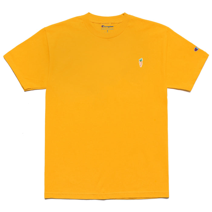 CHAMPION CARROT CHEST HIT T-SHIRT - GOLD