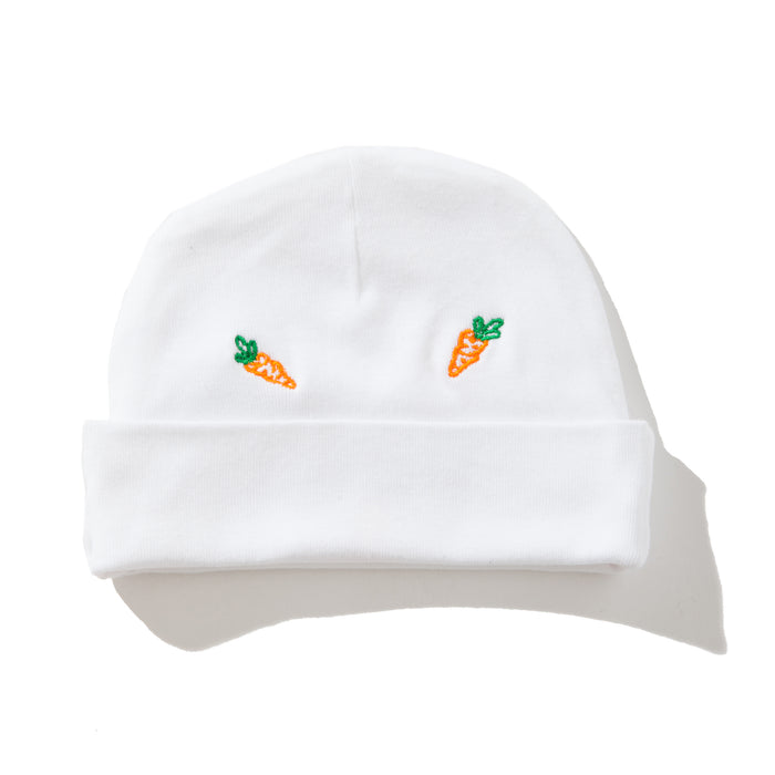 ALL OVER BABY CARROTS BEANIE - WHITE