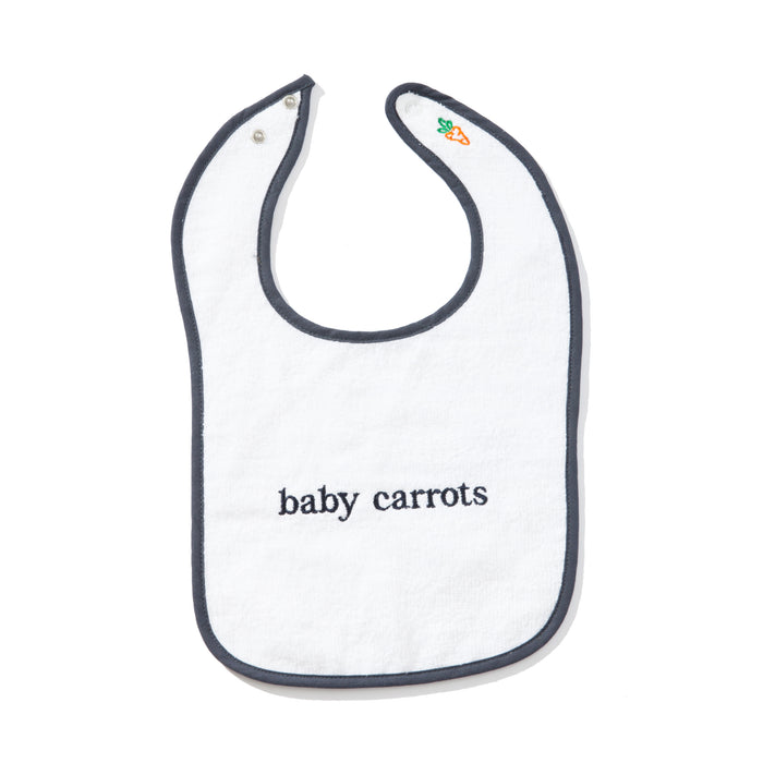 BABY CARROTS WORDMARK BIB - NAVY