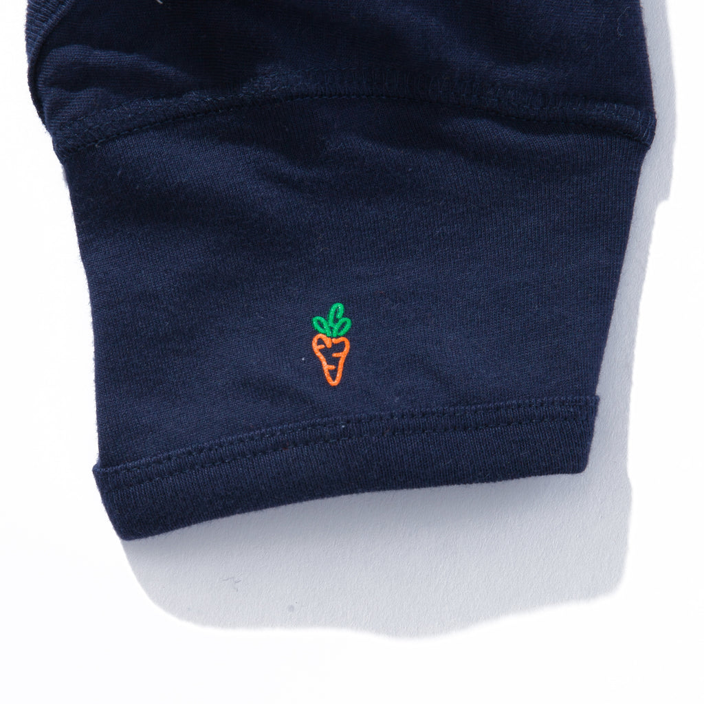 BABY CARROTS WORDMARK ONESIE - NAVY