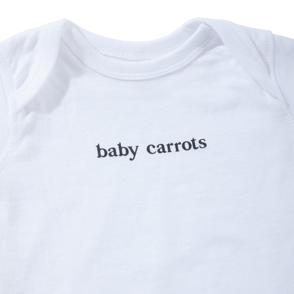 BABY CARROTS WORDMARK ONESIE - WHITE