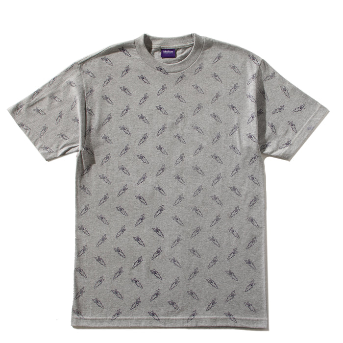 ALL OVER CARROTS TEE - HEATHER GREY