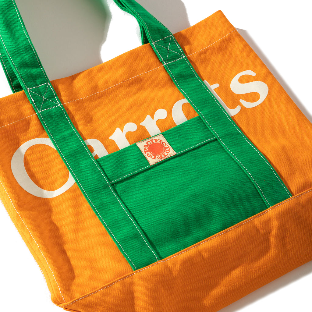 "CARROTS X PACIFIC TOTE CO. ""THE CATALINA"" TOTE BAG - CARROT"