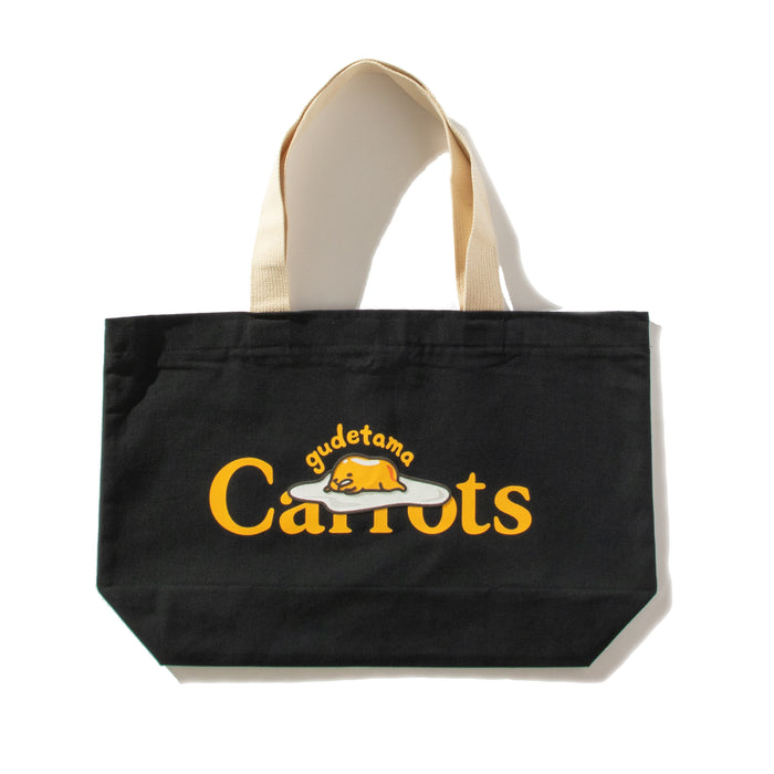 GUDETAMA CARROTS BY SANRIO TOTE BAG - BLACK