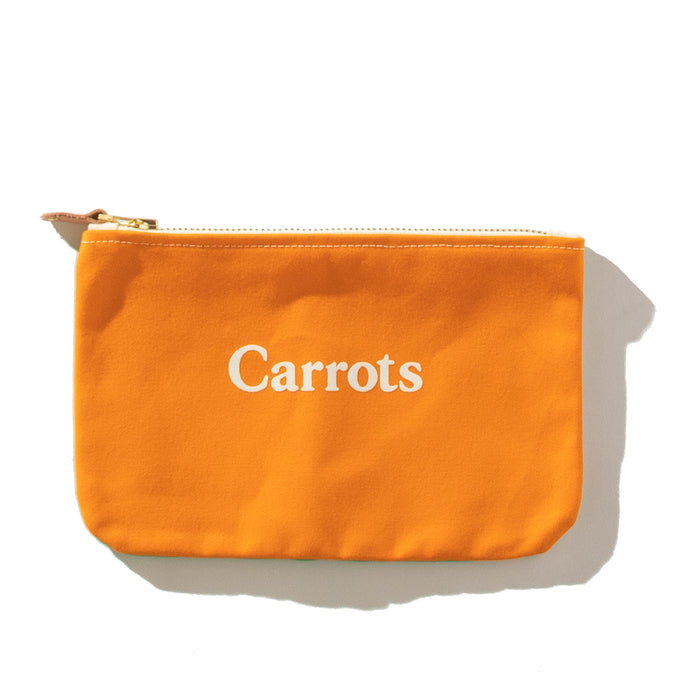 "CARROTS X PACIFIC TOTE CO. ""ZUMA"" POUCH - CARROT"