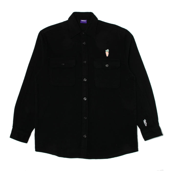 WORDMARK FLANNEL - BLACK