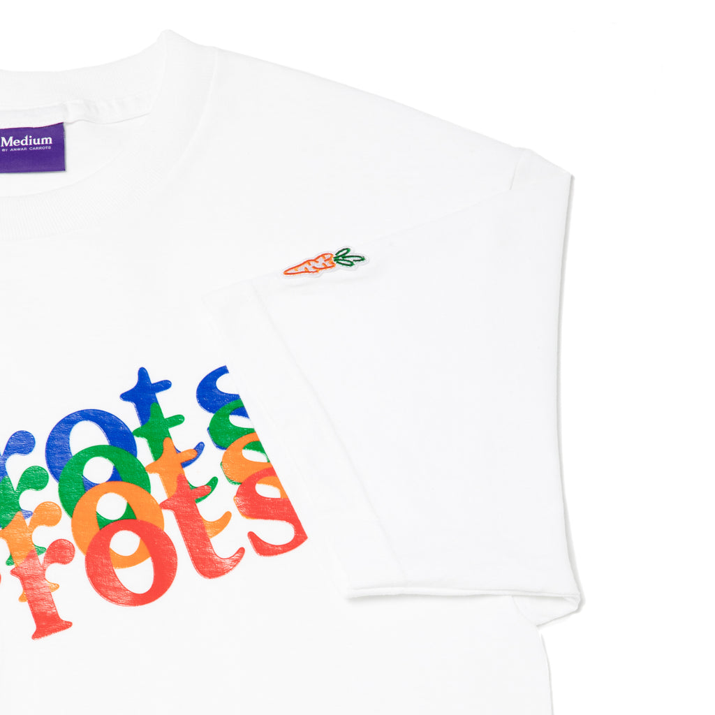 MULTICOLOR WORDMARK TEE - WHITE