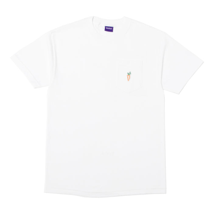 ONE HIT PATCH POCKET TEE - WHITE