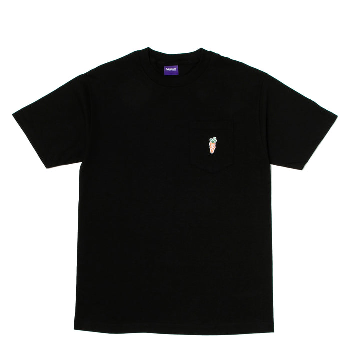 ONE HIT PATCH POCKET TEE - BLACK
