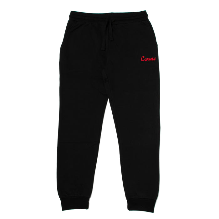 CURSIVE SWEATPANTS - BLACK
