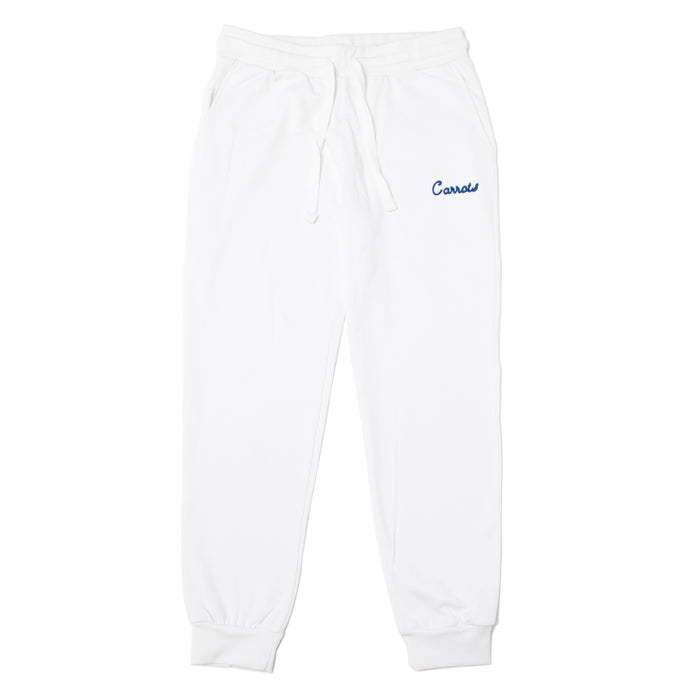 CURSIVE SWEATPANTS - WHITE