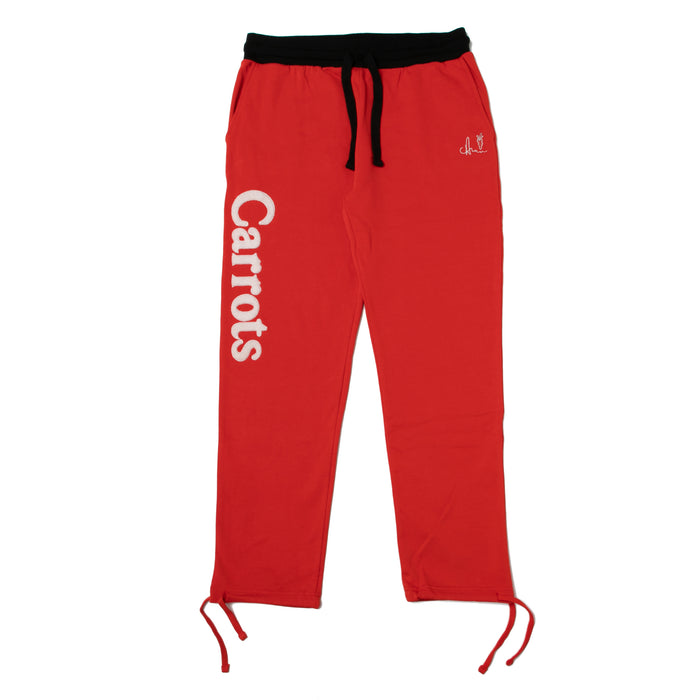 WORDMARK SWEATPANTS - RED