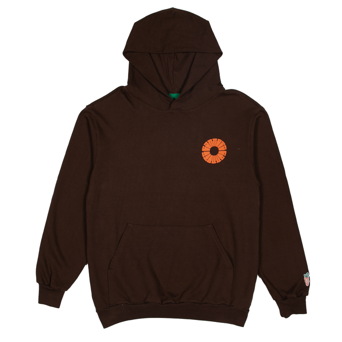 CIRCLE CARROTS HOODIE - BROWN