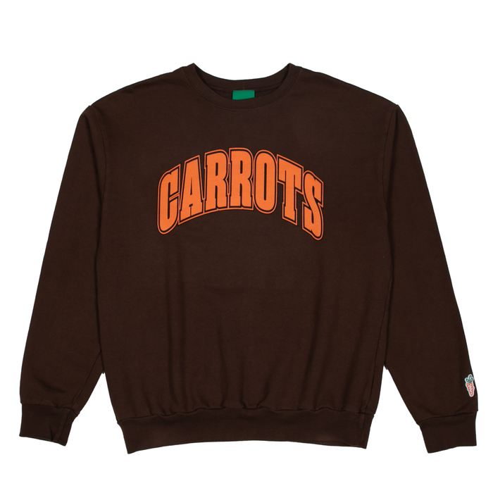 COLLEGIATE CREWNECK  - BROWN