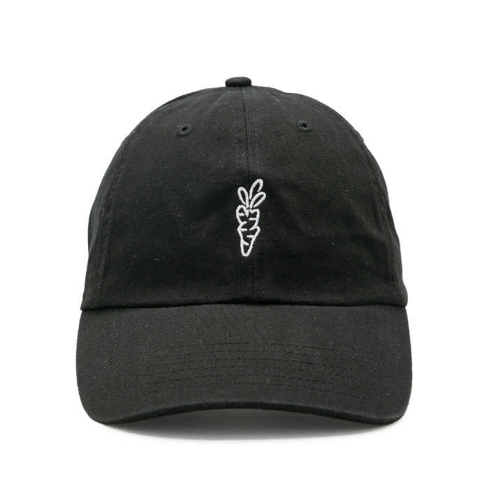 SIGNATURE CARROT DAD HAT - BLACK