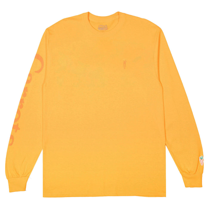 CARROTS X NARUTO LOGO LONG SLEEVE TEE - GOLD