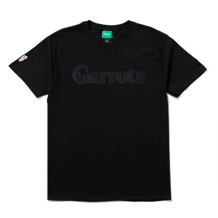 CARROTS X NATHAN WORDMARK T-SHIRT - BLACK