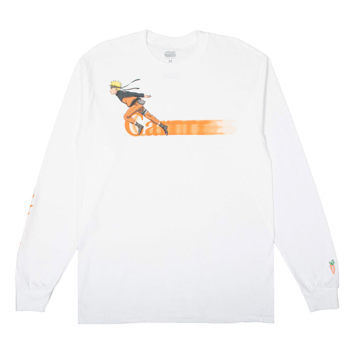 CARROTS X NARUTO RUNNING LONG SLEEVE TEE - WHITE