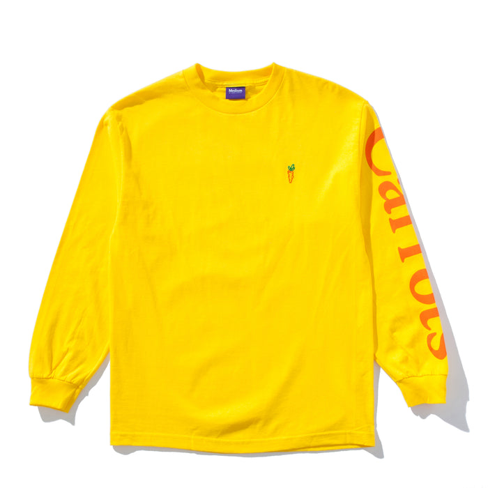 SIGNATURE CARROT LONGSLEEVE TEE - YELLOW