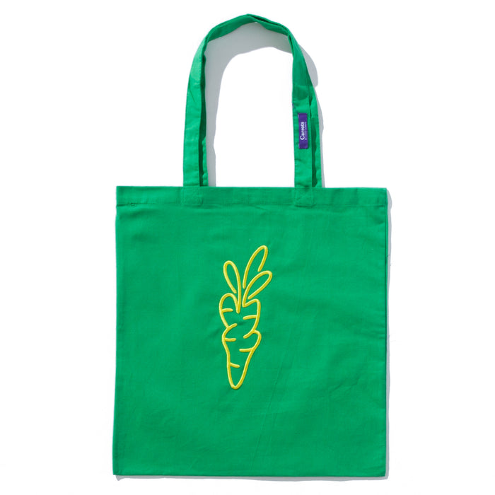 SIGNATURE CARROT TOTE BAG - KELLY GREEN