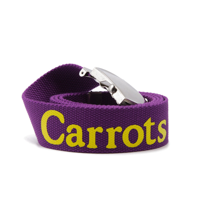 CARROTS WORDMARK WEB BELT - PURPLE CARROT