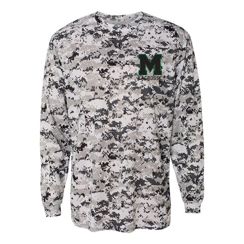 Mason Lacrosse - Badger - Digital Camo Long Sleeve T-Shirt