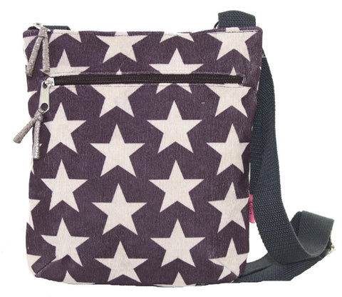 Messenger Bag - Stars Plum