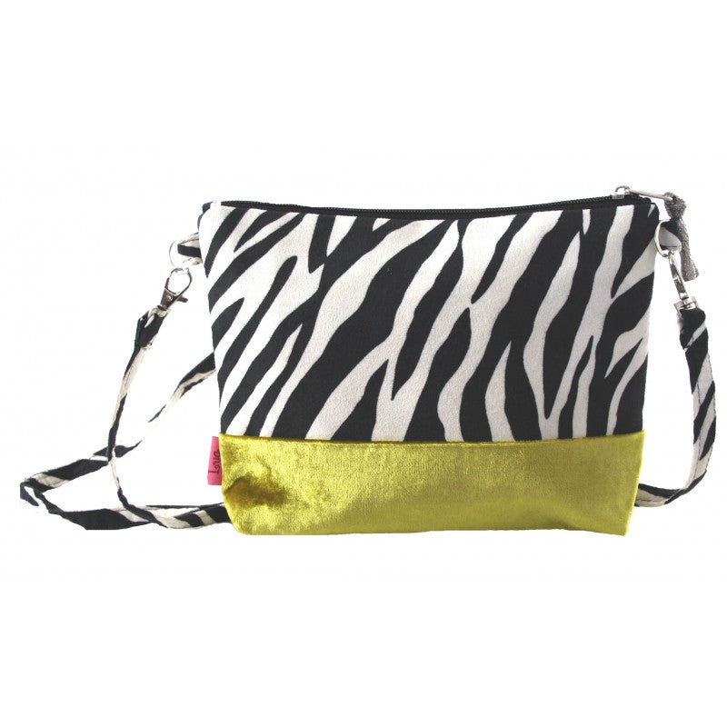 Banded Mini bag - zebra