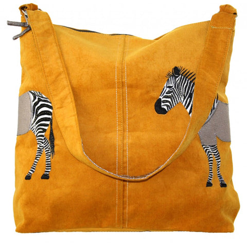 Shoulder Bag - Zebra Appliqué