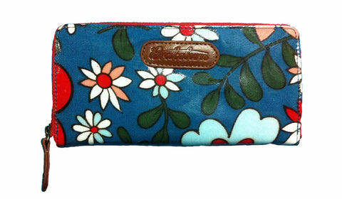 Oil Cloth Wallet Blossom