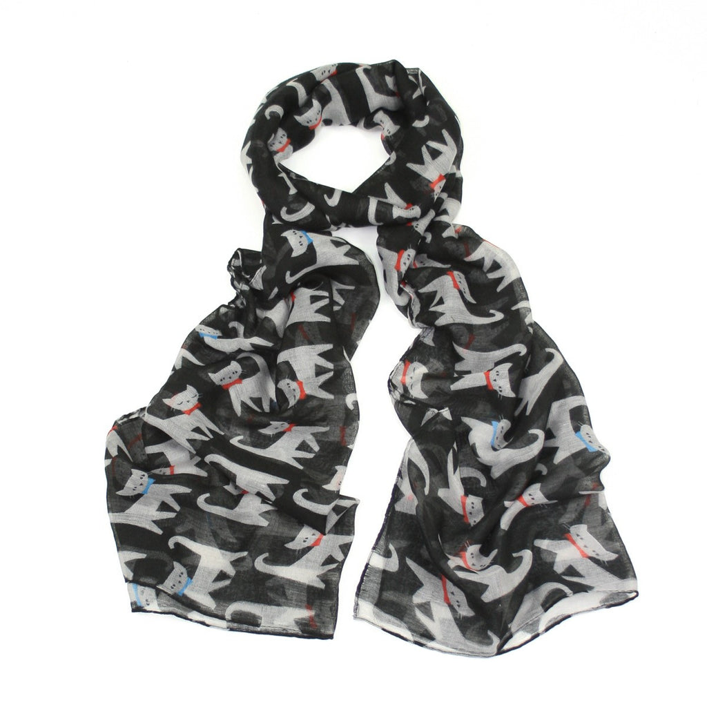 Cats Scarf - Various Colours