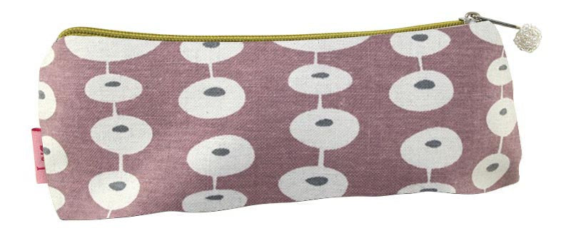 Small Cosmetic Purse - Oval link Pink & Grey