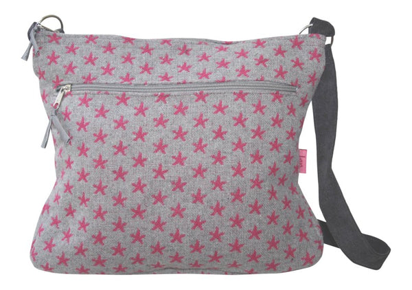 Large Messenger Bag - Wool Stars