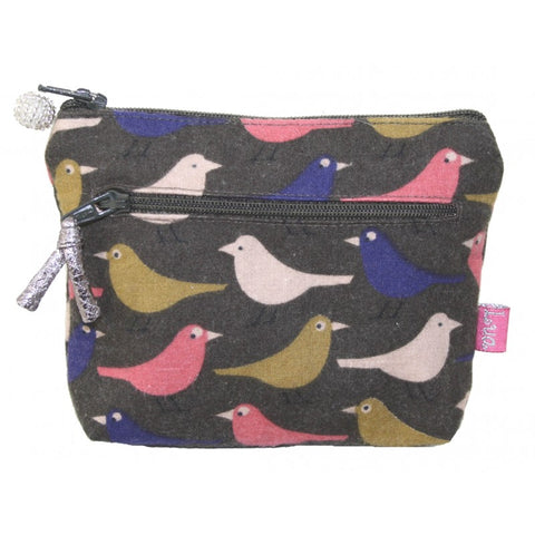 2 Zip Purse - birds