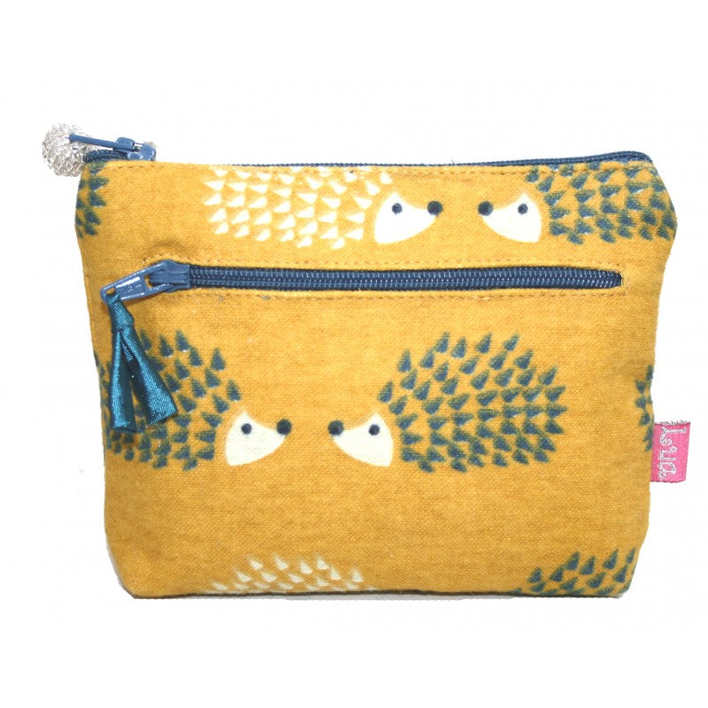 2 Zip Purse - hedgehog