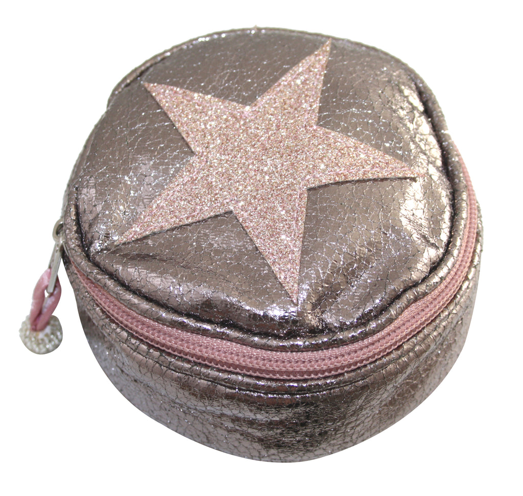 Round Metallic Star Purse