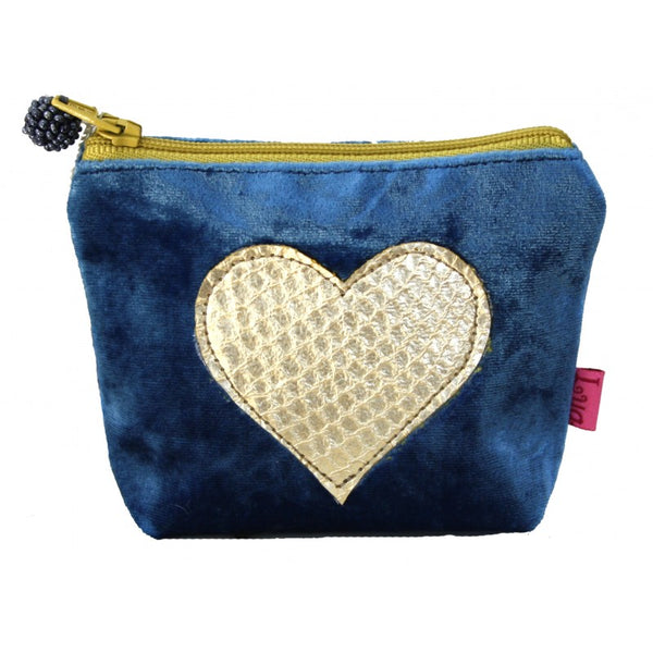 Coin Purse Velvet Snakeskin - Heart