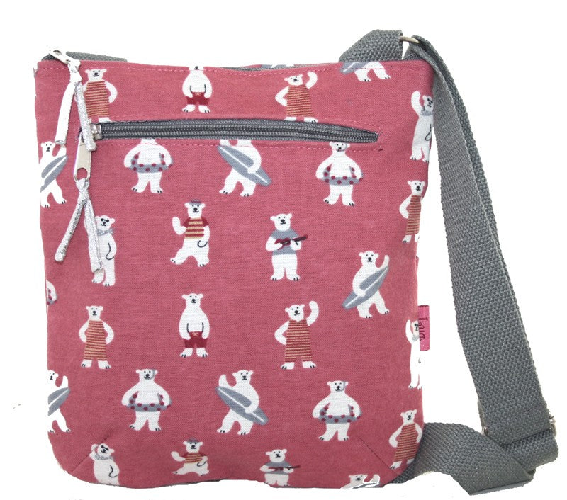 Messenger Bag - Cute Bears Pink