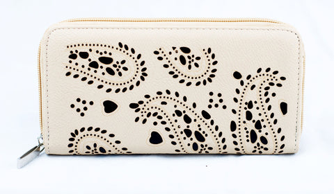 Punched Paisley Purse - Various Colours